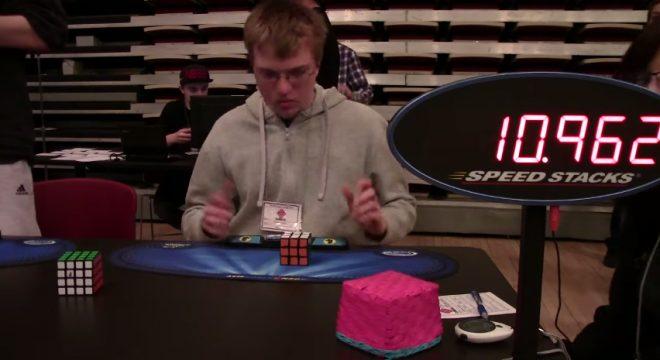 Antoine Cantin 12.56 Rubik s Cube One Handed