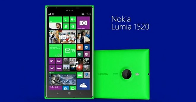 Yeşil Nokia Lumia 1520 Doğrulandı
