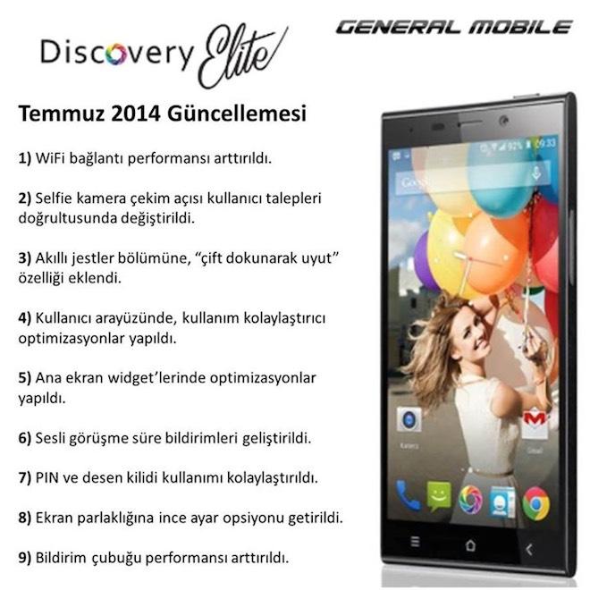 General Mobile Discovery Elite İçin Güncelleme Yayınlandı!
