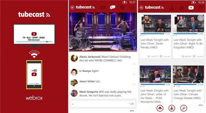TubeCast uygulaması Windows Phone için güncellendi