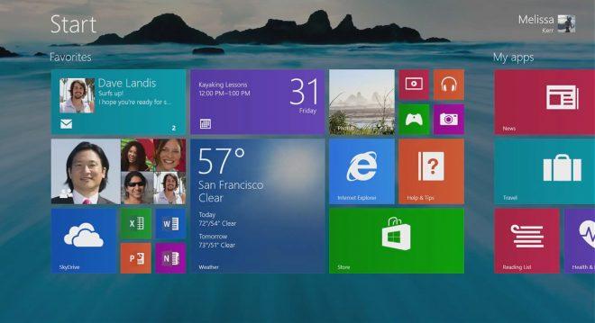 Windows 8.1 yeni başlangıç menüsü ile tekrar görüntülendi