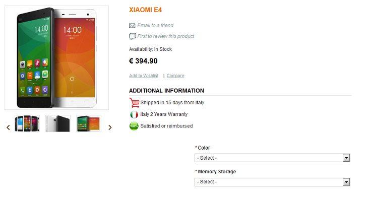 Xiaomi Mi4 Avrupa'da ön siparişe açıldı