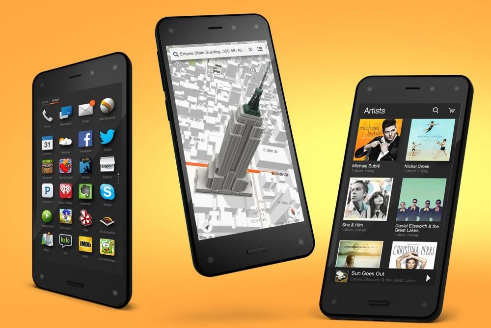 Amazon Fire Phone parçalandı