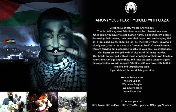 Anonymous adeta İsrail'i çökertti