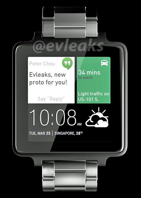 HTC Android Wear saati göründü