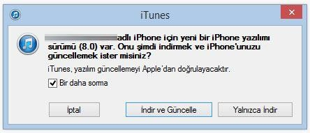iOS 8 güncelleme