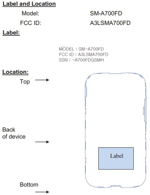 Samsung-Galaxy-A7-SM-A700-FCC-Label-Locations