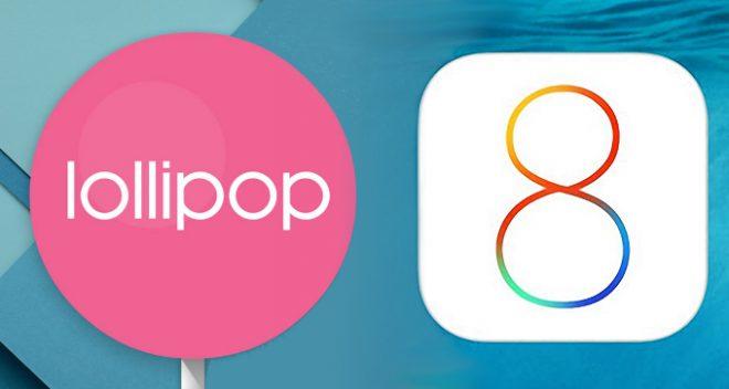 Android 5.0 Lollipop ile iOS 8.0 karşılaştırması