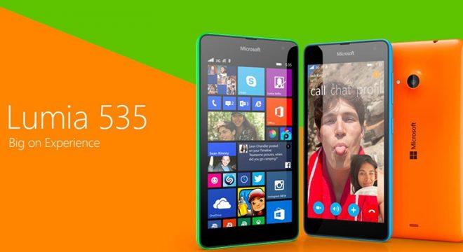 Microsoft Lumia 535 için güncelleme yayınlandı