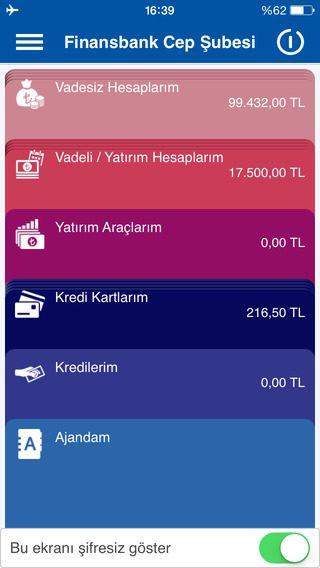 Finansbank Cep iOS 2