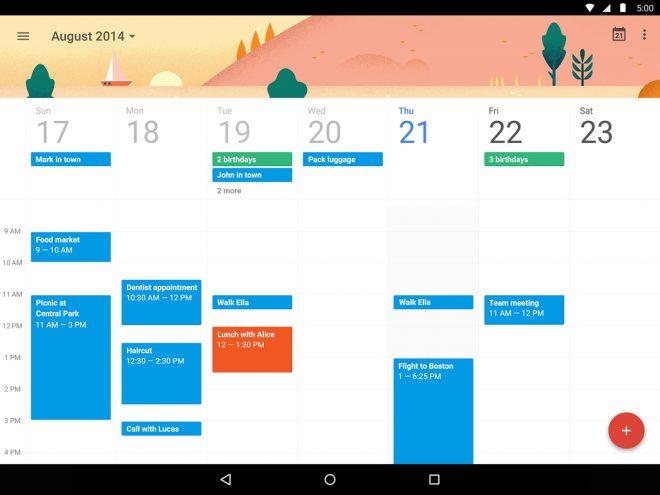 Google Takvim Uygulaması Sonunda App Storede