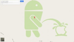 Android Apple'ın üzerine çişini yaptı.