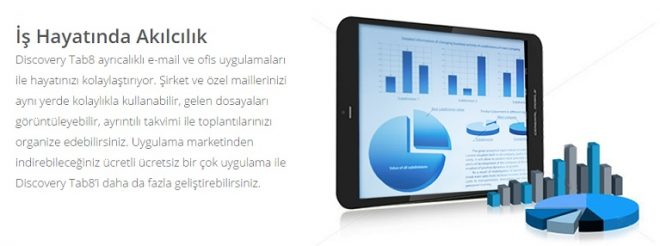Discovery Tab8 3G General Mobile tablet pc inceleme