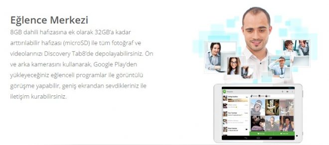 Discovery Tab8 3G tablet