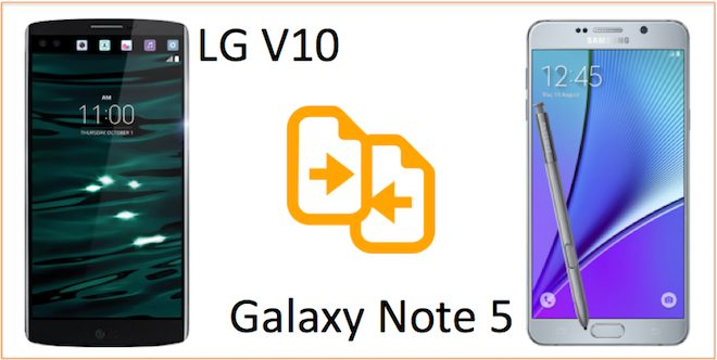 LG v10 vs Galaxy Note 5