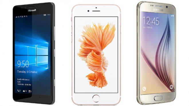 Microsoft Lumia 950 mı ? Apple iPhone 6 mı? yoksa Samsung Galaxy S6 mı ? karşılaştırma
