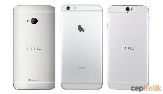 htc one a9 iphone 6 benzerliği