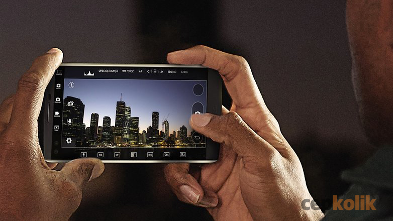 lg v10 kamera arayüzü