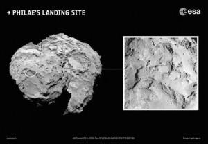 Rosetta Philae iniş yeri