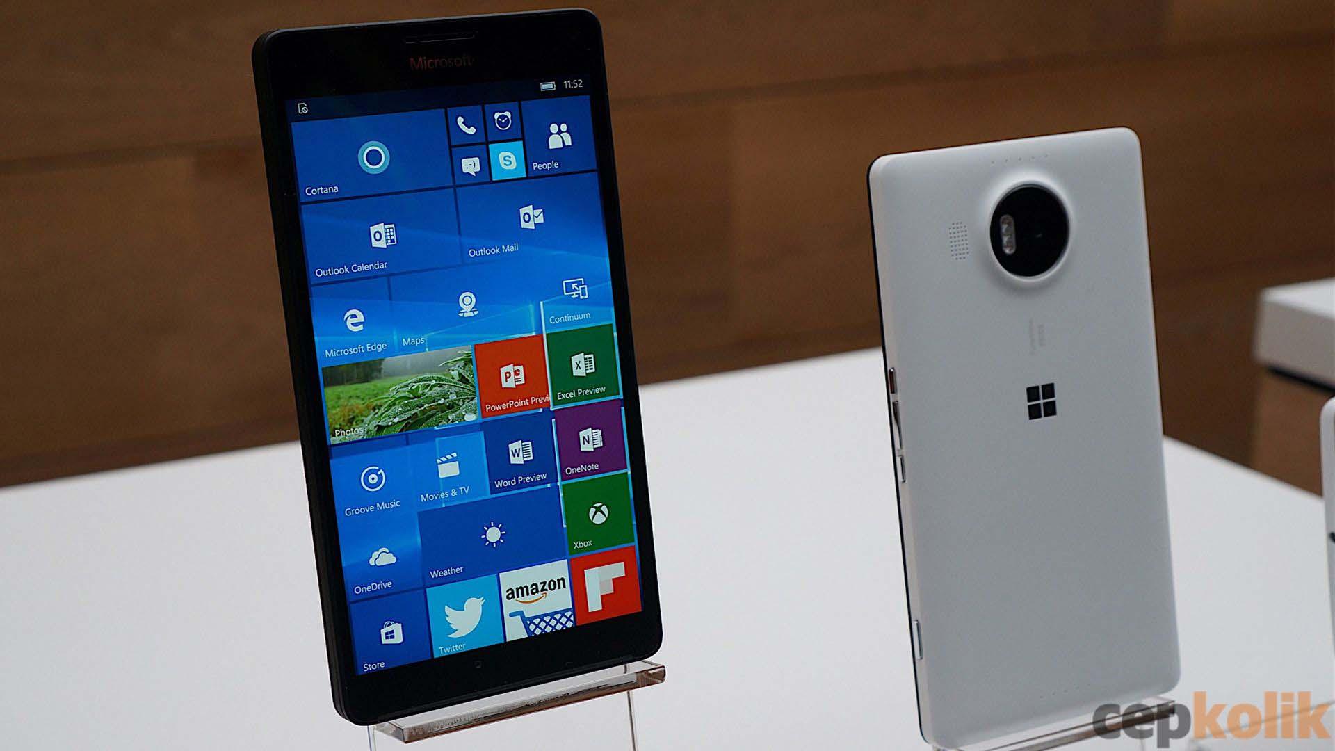lumia 950 xl ön ve arka