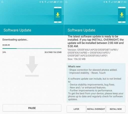 Samsung Galaxy S7 ve S7 Edge Güncelleme Aldı!