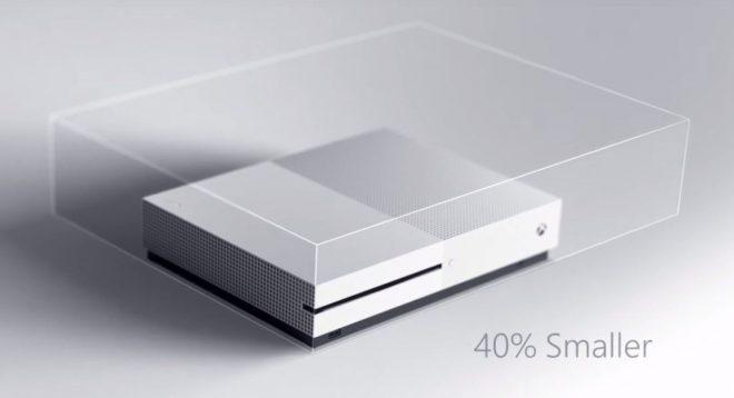 xbox one s %40 daha küçük
