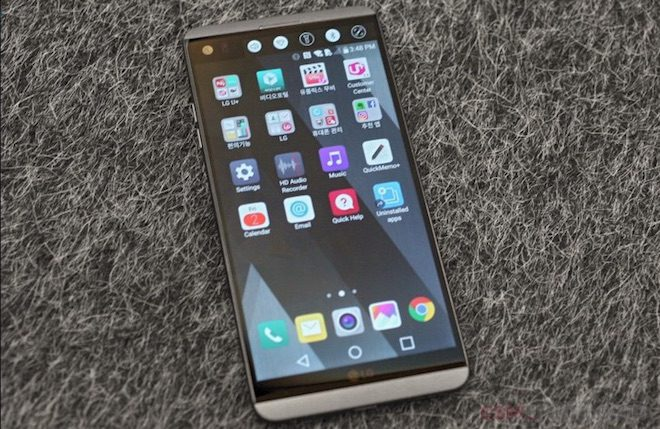 LG V20 Tasarım