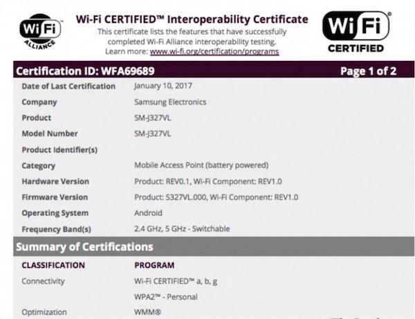 Samsung Galaxy J3 (2017) Wi-fi Onayını Aldı!