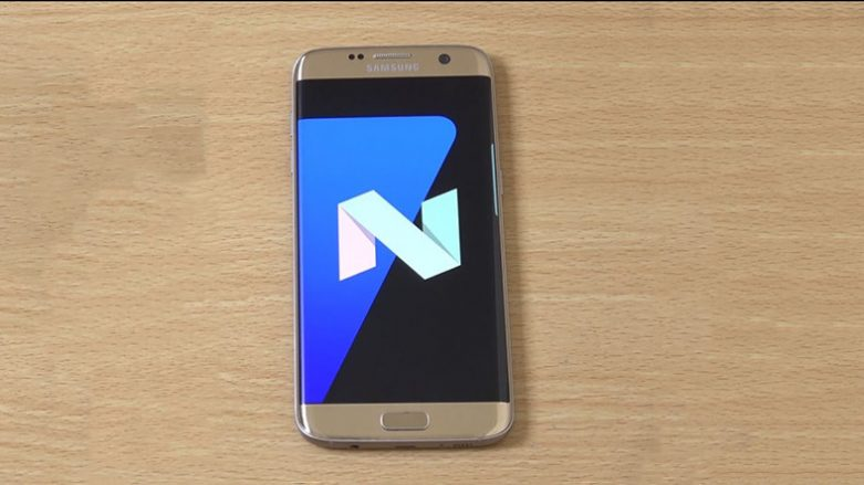 Galaxy S7 Edge Android Nougat