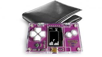 Cüzdanda Taşınabilen Tetris Konsolu