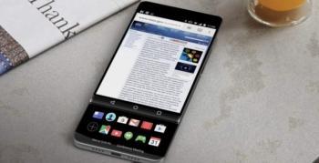 LG V30 konsept render iki ekranlı kızaklı bir telefonu işaret ediyor