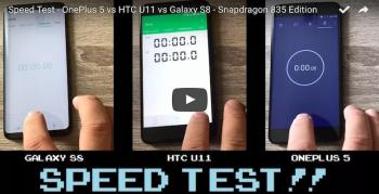 OnePlus 5, hız testinde HTC U11 ve Galaxy S8'i yeniyor