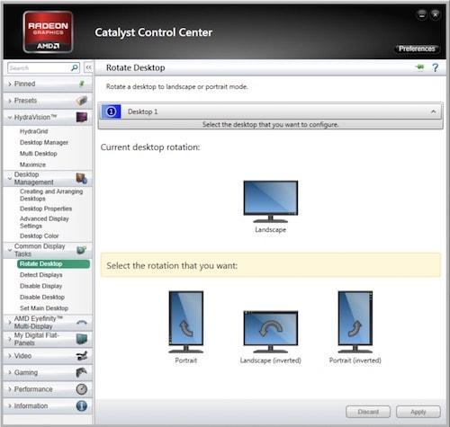 Windows'da ekranı döndürme