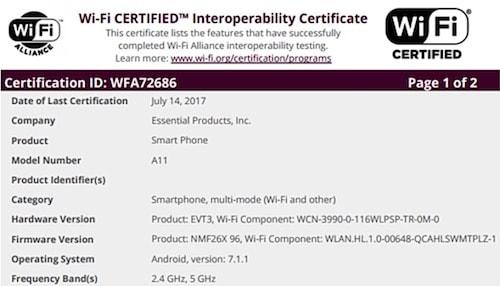 Essential phone (A11)