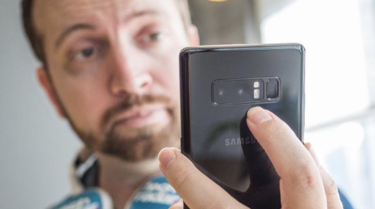 Galaxy Note 8 Parmak izi sensoru
