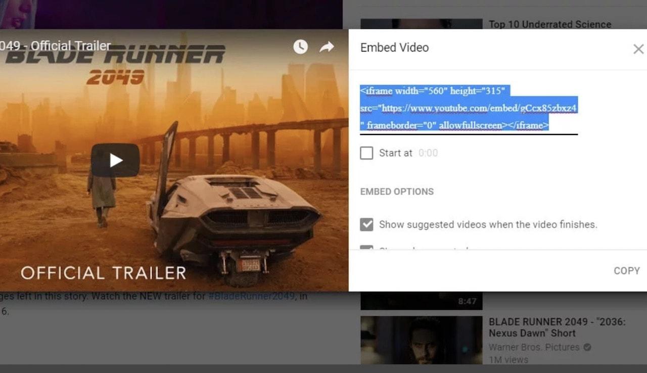 youtube video ekleme embed-1