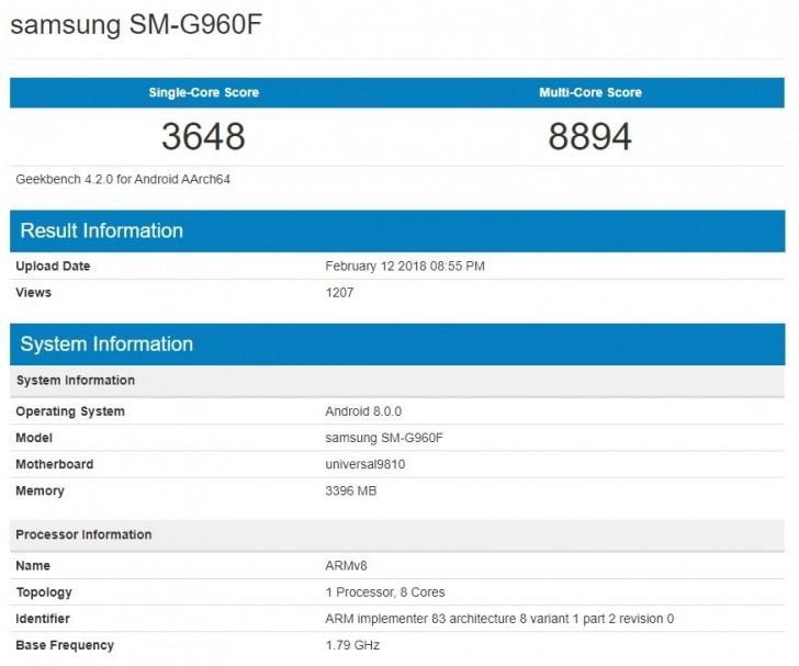 Samsung Galaxy S9'un Exynos 9810 Geekbench Sonuçları Ortaya Çıktı