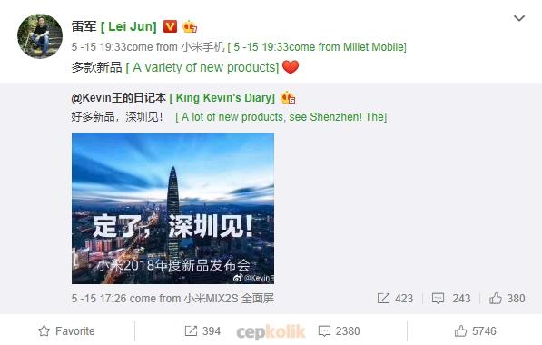Xiaomi Shenzhen Tanıtım Etkinliğinde Sadece Mi 7 Tanıtılmayacak!