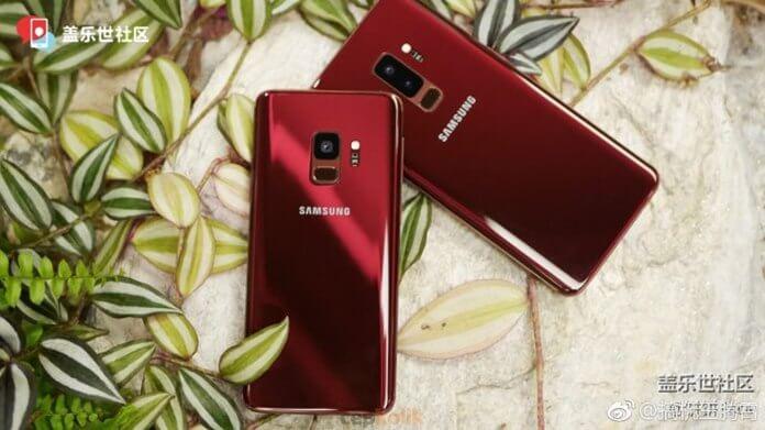 Galaxy S9 ve S9 Plus Yeni Renk Seçeneği Burgundy Red Göz Kamaştırıyor!