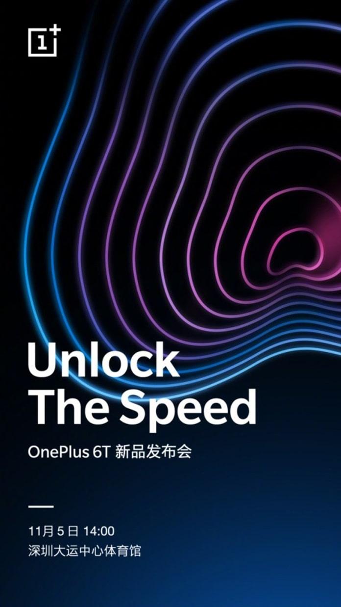 OnePlus 6T Çin Lansman Tarihi 5 Kasım Olarak Belirlendi