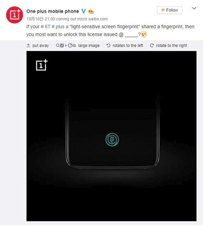 OnePlus 6T Parmak İzi Okuyucusu Özellikleri