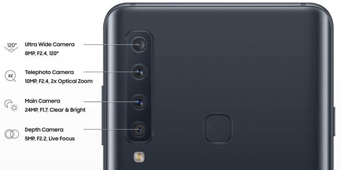 Samsung Galaxy A9 Star Pro: Dörtlü Arka Kamera