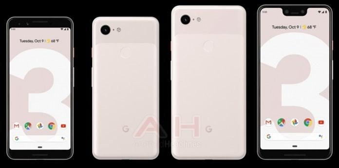 Google Pixel 3 ve Pixel 3 XL Teknik Çizimleri