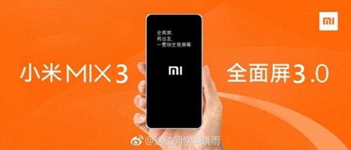 Xiaomi Mi Mix 3 15 Ekim Tarihinde Satışa Sunulabilir!