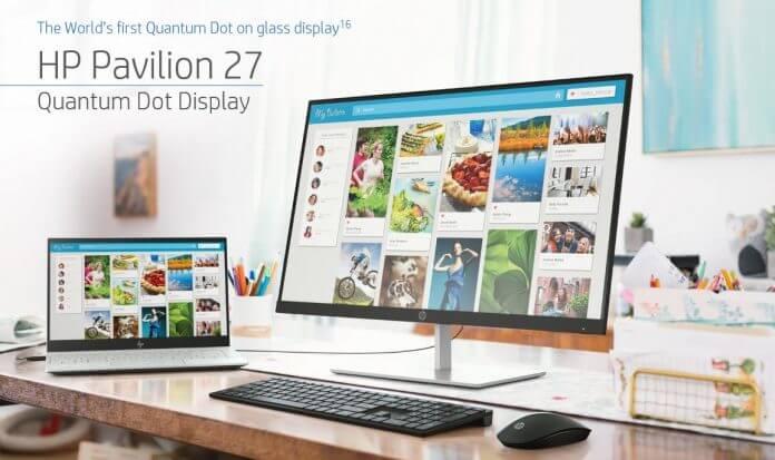 QLED Teknolojili Ekran HP Pavilion 27 Tanıtıldı