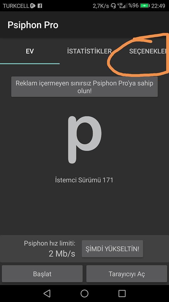 Psiphon Pro Güncel Fatih VPN Ayarları