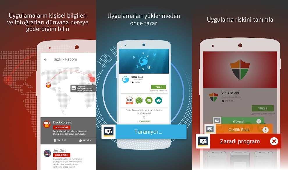 android telefon güvenlik programları