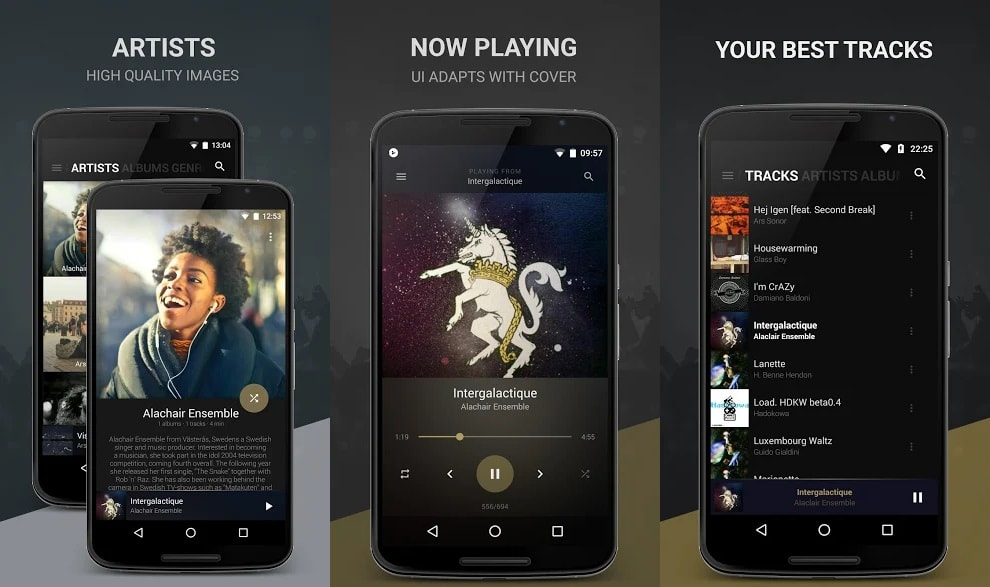 Android İçin En İyi Müzik Çalar Uygulamaları 2019