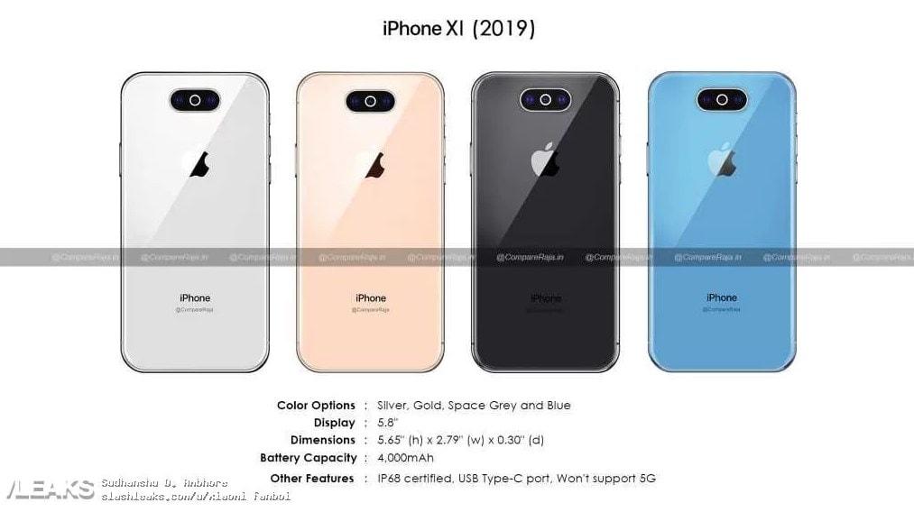 Apple iPhone 11 (2019) Özellikleri ve Teknik Çizimleri Sızdırıldı