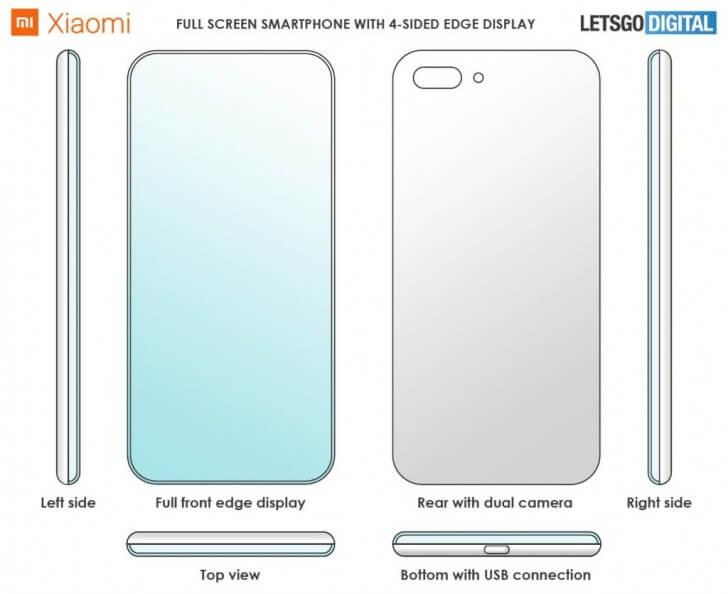 Xiaomi, 4 Köşeli Ekran Patenti Aldı!